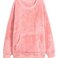 Fleece sweatshirt - Pink - Ladies | H&M GB