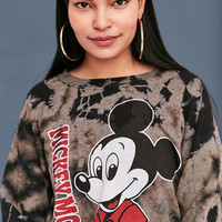 Junk Food Mickey Mouse Tie-Dye Crew Neck Sweatshirt | Urban Outfitters
