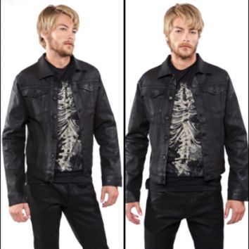 Lip Service Black Wax Denim Jacket - Jackets - Men's Online Store