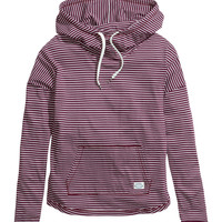 H&M - Striped Hooded Top - Dark