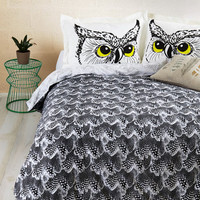 ModCloth Critters Fly Off to Dreamland Duvet Cover in Full, Queen