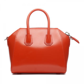 GIVENCHY SMALL ANTIGONA ORANGE LEATHER BAG