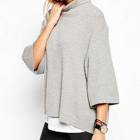 Fashion high-necked loose sweater