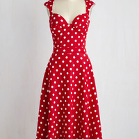 Prove Your Groove Dress in Red Dots | Mod Retro Vintage Dresses | ModCloth.com