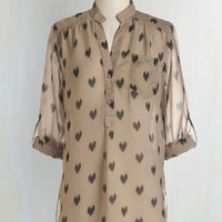 Urban Long 3 Love Ballad Tunic in Sheer Tan