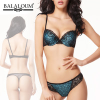 Women Bra Set Lash Lace Sexy Lingerie Push Up Underwear Balaloum Acousma VS Brand  Bra and Panty Sets Brassiere Thong T-back New