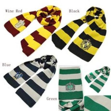 ca DCCKTM4 Gryffindor Slytherin Ravenclaw Hufflepuff House Harry Potter Scarf Shawl Wrap [8919821703]