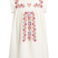 Girl's Tea Collection 'Rosario' Floral Cross Stitch Dress,
