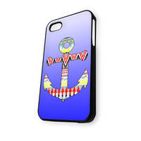 Anchor Aztec motif blue iPhone 5/5S Case