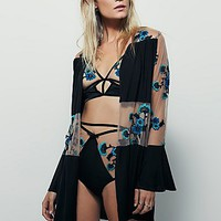 Free People Darla Silk Robe
