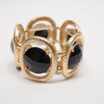 Be Jewel-ous Elastic Bracelet Black Ed.