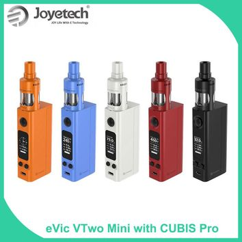 Original Joyetech eVic VTwo Mini with Cubis Pro Full Kit 1-75W 4ml TFTA-Tank RTC Clock Display e-Cigarette VAPE KIT
