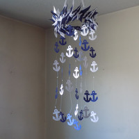 Nautical Anchor mobile! Nautical inspiration, nautical navy mobile, sailing, Ocean. Water, Nautical décor.Choose Your Colors!