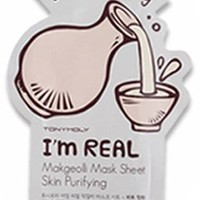 Tonymoly I'm Real Skin Care Facial Mask Sheet Package (Makgeolli - Skin Purifying 10 Sheets)