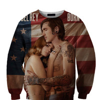 Lana Del Rey Flag All Over Custom Sublimated sweatshirt Unisex Women and Men