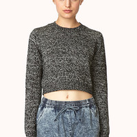 Marled Moment Cropped Sweater