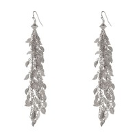 FARRAH Fringe Earrings - Silver