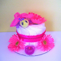 Butterfly Diaper Cake for Girl, Pink Diaper Cake, Black Friday, Cyber Monday