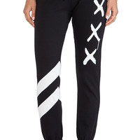 Lauren Moshi Frances Sweatpant in Black