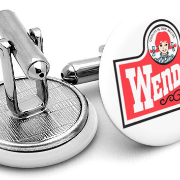 Wendy's Logo Cufflinks
