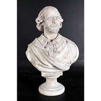 SheilaShrubs.com: William Shakespeare Grand-Scale Sculptural Bust NE86794 by Design Toscano: Garden Sculptures & Statues