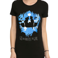 Disney The Little Mermaid Go On And Kiss The Girl Girls T-Shirt