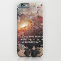 Do Not Feel Lonely iPhone & iPod Case by Erin