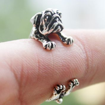 vintage retro handmade cute dog ring best gift beautiful gift box 2