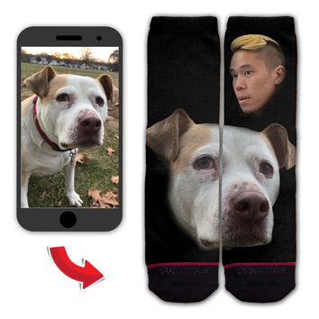 Function - Custom Floating Head Portraits Pet Fashion Socks Animal Face Gift