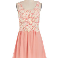 ModCloth Mid-length Sleeveless A-line Rose Petal Tea Dress