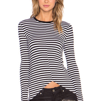 The Fifth Label Feel So Good Long Sleeve Top in Black & White Stripe
