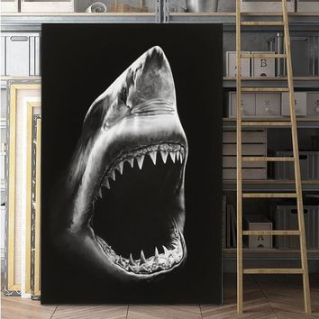 Dolphin Painting Canvas Wall Art Picture Home Decoration Living Room Canvas Print Painting Large Canvas Art Robert Longo Shark