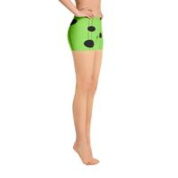 All-over-print Sport Shorts - Dots on strings, canary green