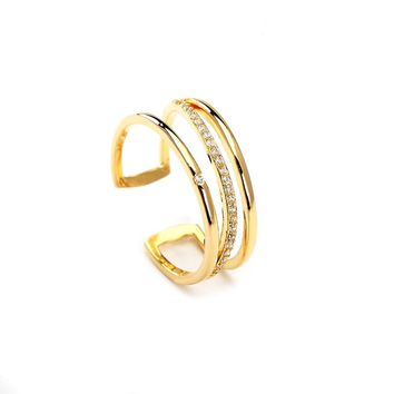 Intersection Gold Plated Ring