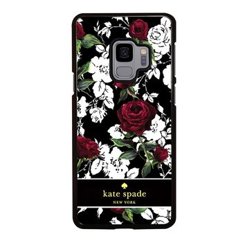 KATE SPADE ROSE RED WHITE Samsung Galaxy S3 S4 S5 S6 S7 S8 S9 Edge Plus Note 3 4 5 8 Case