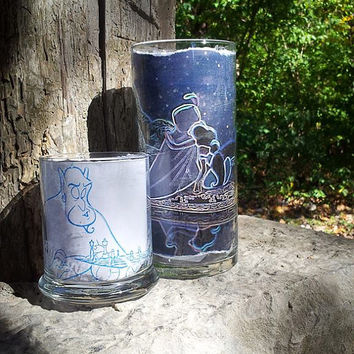 Disney Wedding Candle, Aladdin inspired candle