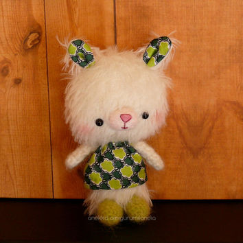 Little teddy bear mohair plush, plush toy , mohair animal,  art teddy bears, Amigurumi mohair,