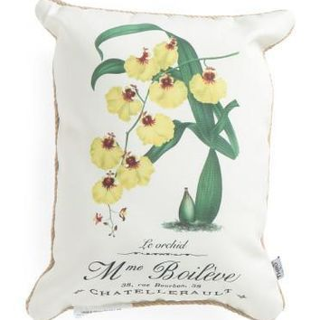 Thro by Marlo Lorenz Yellow Orchid Pillow