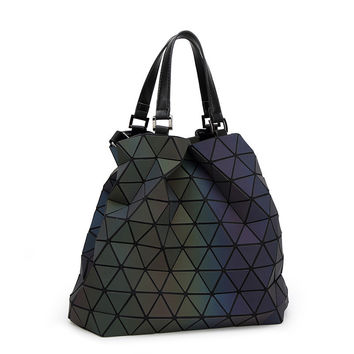 geometric baobao handbag women bag big European style luminous Lingge bao bao issey miyak tote fashion women's hand Shoulder bag
