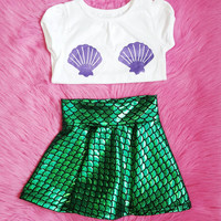 Mermaid Outfit, Little Mermaid, Mermaid, The Little Mermaid Set, Mermaid Costume, Mermaid Birthday Outfit