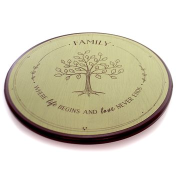 Tabletop FAMILY TREE LAZY SUSAN Wood Entertain 1004040018