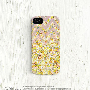 Floral iPhone 5 case chevron iPhone 4 case Flower  by TonCase