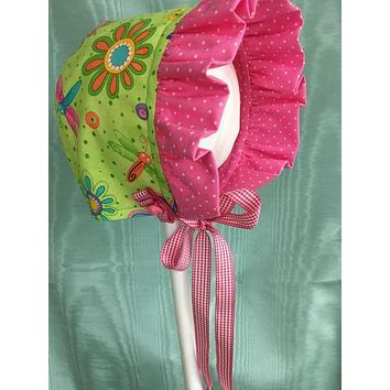 Fun Flowers Baby Bonnet