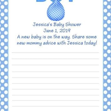 10 Its A Boy Baby Shower Advice Cards