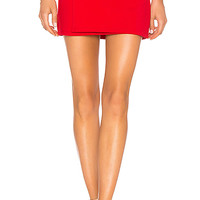 "Susana Monaco 16"" Tie Mini Skirt in Perfect Red 