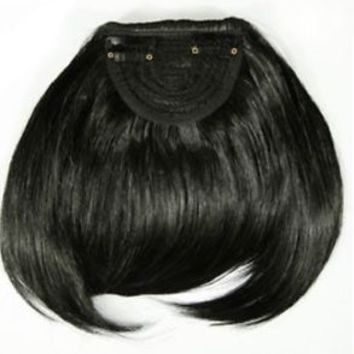 Straight Front Bangs Fringe Piece Clip In Hair Extension Synthetic Hair Piece