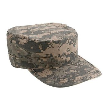 Camouflage Army Unisex Hat Official style general sergeant Fasten back camo camo