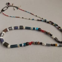 Long Tribal Bead Necklace