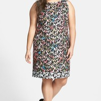 Plus Size Women's Tahari Floral Jacquard Sheath Dress