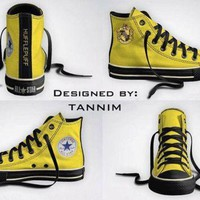DCCK1IN custom harry potter house hufflepuff converse chucks by tannim